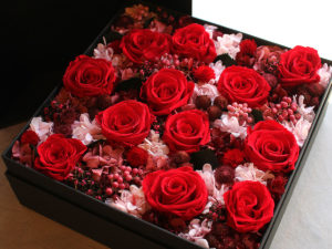 Preserved Flower Dozen Roses Remake Box Arrangement