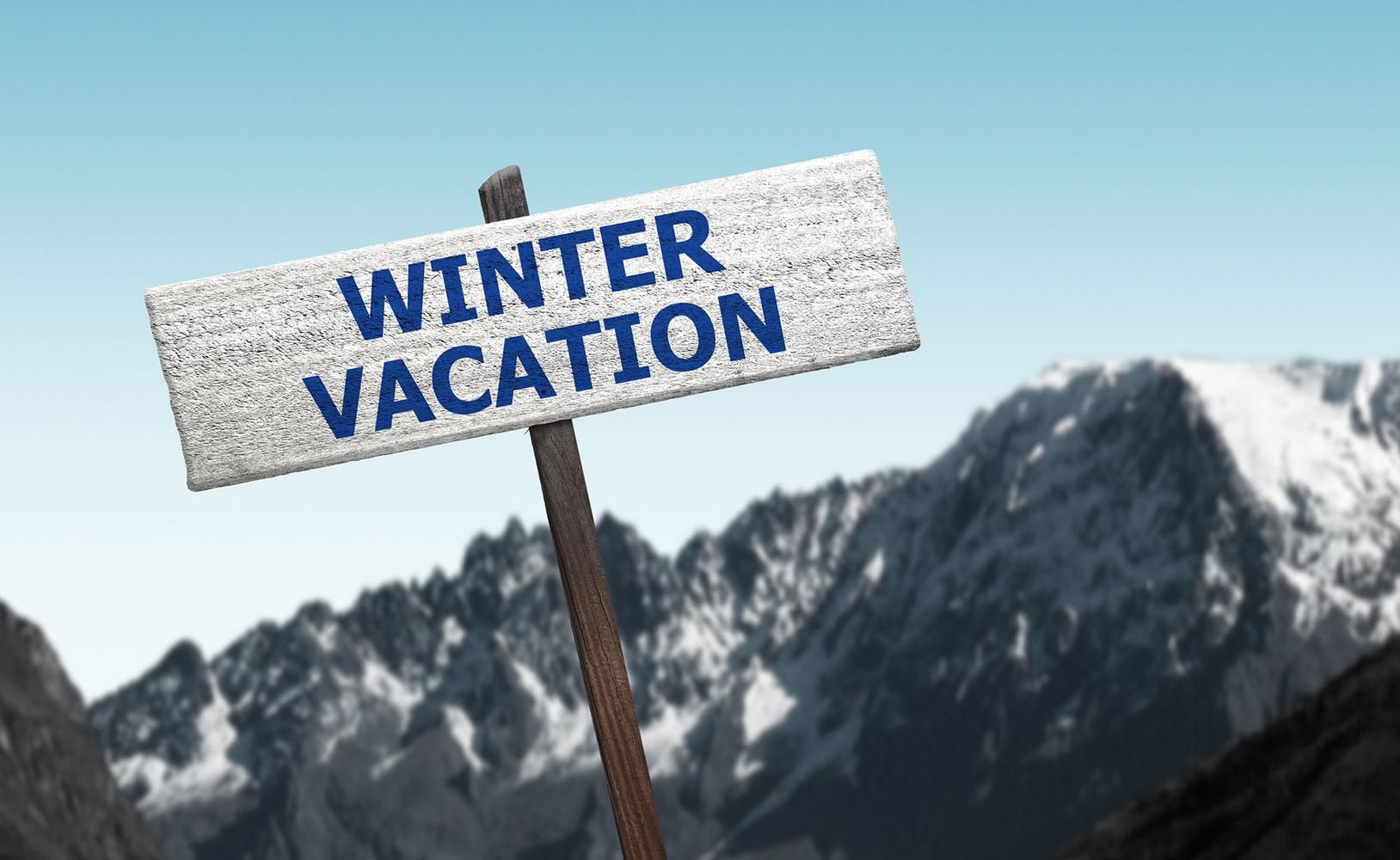 winter holiday notice