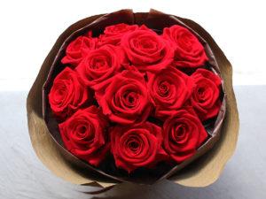Preserved Flower Dozen Roses Colonial Bouquet