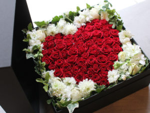 Heart Rose Box Arrangement | ハートローズボックスアレンジメント
