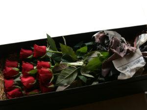 Dozen Roses Box Bouquet