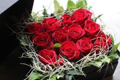 Dozen Roses Box Arrangement