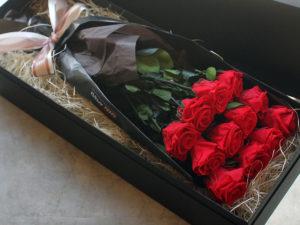 Preserved Flower Dozen Roses Box Bouquet